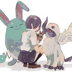Touka e alguns pokemons - Tokyo Ghoul e Pokemon