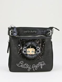 Betty Boop Crossbody Bag - B13R36 (Black) by Mercury Fashion Station. $34.99