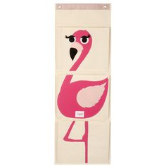 3 Sprouts Flamingo Wall Toy Organizer UWLFLM,    #3_Sprouts_UWLFLM