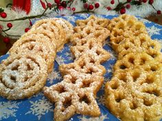 My grandma used to make these Swedish Christmas cookies called Rosettes (Struva in Swedish). They are crispy, light, and only slightly sweet (and taste like Christmas to me!).