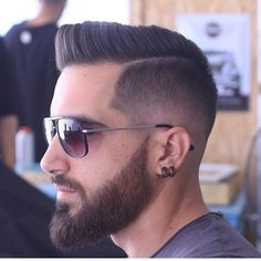 Men's Toupee Human Hair Hairpieces for Men inch Thin Skin Hair Replacement System Monofilament Net Base ( Beard Styles For Men, Hair And Beard Styles, Short Hair Styles, Cool Haircuts, Haircuts For Men, 2018 Haircuts, Short Fade Haircut, Mens Fade Haircut, Hair Toupee