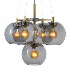 Belid gloria valaisin kruunu 67cm 5-osainen savulasinen Ceiling Lights, Lighting, Home Decor, Design, Products, Image, Decoration Home, Room Decor, Lights