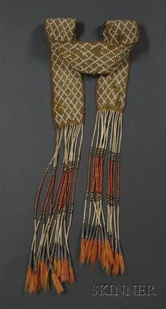 Eastern Great Lakes Finger-woven and Quilled Sash Native American Clothing, Native American Beading, Native American History, Native American Indians, Native Indian, Native Art, Woodland Indians, Finger Weaving, Beaded Moccasins
