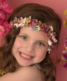 Another great find on #zulily! Mauve Floral Crown Headband #zulilyfinds