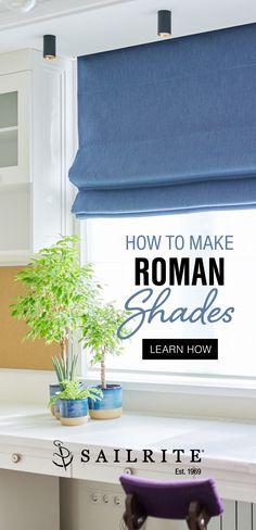 Diy Window Blinds, Fabric Window Shades, Fabric Roman Shades, Diy Roman Shades, Diy Curtains, Diy Roman Blinds, Sewing Curtains, Window Curtains, Diy Home Decor Projects