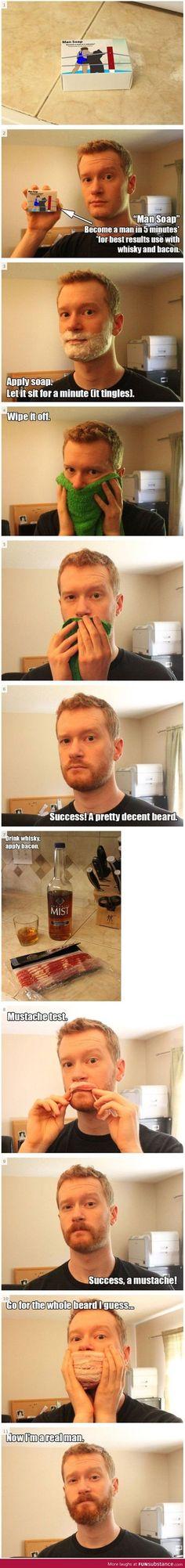 How to become a real man - FunSubstance.com