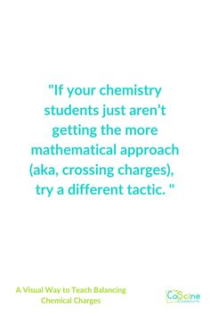 Are your chemistry students math challenged? Do you have a group of students that are confused? Do you want your students to learn and reach a deep understanding? Have them draw out and color code the charges. They will understand which will make you the best chemistry teacher ever. #chemistryteacher High School Chemistry, Chemistry Teacher, Chemical Equation, Math Challenge, Teaching Science, Confused, Middle School, About Me Blog