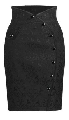 Side button Skirt - Chic Star desgin by Amber Middaugh Más Diy Vetement, Button Skirt, African Dress, Work Attire, Skirt Outfits, African Fashion, Dress Skirt, Fashion Dresses, Vintage Fashion