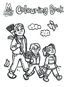 Colouring Page. Visit www.MisforMoney.ca to buy our books and for more free downloads and fun money stuff! #misformoney Book Series, Book 1, Colouring Pages, Coloring Books, Money Songs, Financial Literacy, Free Downloads, M Color, Cool Kids