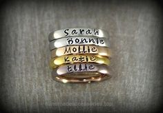 Personalized Stackable Name Ring – Stacking Rings – Matte, Shiny, Rose Gold, Gold and Coffee Colors – 3mm Width Check It Out Now     $14.95    New to our product line are these nice Stainless Steel Stackable Name Rings, they are available in Matte, Shiny, Rose ..  http://www.handmadeaccessories.top/2017/03/28/personalized-stackable-name-ring-stacking-rings-matte-shiny-rose-gold-gold-and-coffee-colors-3mm-width-2/