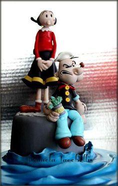 Popeye-Olive Cake - Cake by Pamela Iacobellis