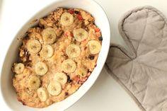 Gebackene Haferflocken mit Banane: Bloggerin Healthy Happy Steffi über ihren gluten- und zuckerfreien Morgen + Rezept! // Fructopia.de