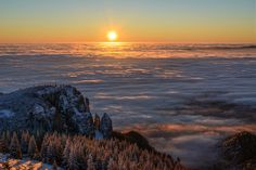 Sea of fog at Ceahlau, Romania - Photography by Arpad Laszlo Photo Tips, Romania, My Photos, Places To Visit, Around The Worlds, Sea, Sunset, Nature, Pictures