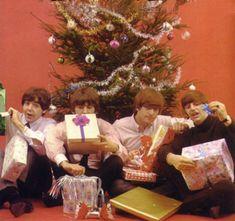 Paul McCartney, George Harrison, John  Lennon, and Richard Starkey (The Fab Four's Surreal Christmas)