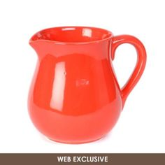 Throwing a party? Pour your beverage in style with this vibrant cherry red pitcher that is crafted of ceramic with a shapely design! #kirklands #eCatalog