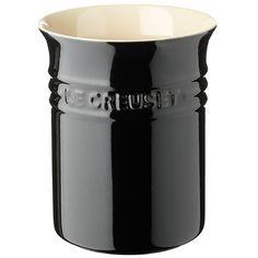 Le Creuset Bestik- og redskabskrukke l. Le Creuset, Store Fronts, Sorting, Mugs, Tableware, Classic, Black Onyx, Internet, Products