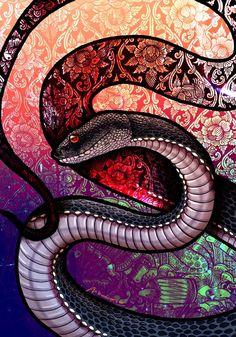 Mangrove Pit Viper by Culpeo-Fox on DeviantArt Deviant Art, Snake Painting, Snake Wallpaper, Cobra Art, Pit Viper, Snake Art, Beautiful Snakes, Dragon Art, Reptiles