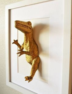 45 Beautiful DIY Wall Decor Ideas for Your Room - Diy Decoration - 2019 Diy Wall Decor, Diy Home Decor, Wall Decorations, Decor Room, Art Decor, Dinosaur Bedroom, Cool Kids Rooms, Idee Diy, Kids Decor