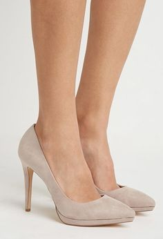 pointed faux suede pumps $24.90
