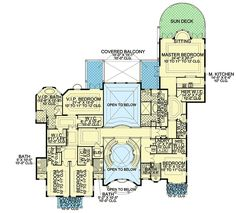 Complete with Guest Cottage - floor plan - Floor Modern House Floor Plans, Unique Floor Plans, Luxury House Plans, Dream House Plans, Dream Houses, Castle House Plans, House Plans Mansion, Sims House Design, Mountain House Plans