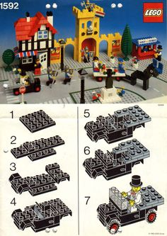 City - Castle Town Square instructions [Lego 1592]