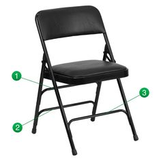 Flash Furniture HA-MC309AV Hercules Series Vinyl Upholstered Metal Folding Chair - HA-MC309AV-BGE-GG