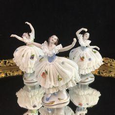 Volkstedt Dresden Figurine Porcelain Figurine by RoyalAntiquesCo Cheap Dresses, Nice Dresses, Dresden, Fashion Dresses, Germany, Porcelain, Trending Outfits, Disney Princess, Handmade Gifts