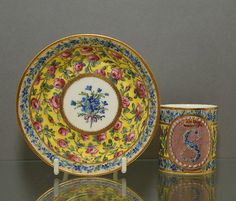 c. 1796 to c. 1797 Sevres Cup and Saucer