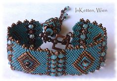 Bracelet, bracelet, beaded bead, Swarovski Crystallized (TM) Source by perrangke Seed Bead Necklace, Seed Bead Bracelets, Seed Bead Jewelry, Healing Bracelets, Beaded Necklace, Beaded Bracelets, Beads And Wire, Metal Beads, Bracelets