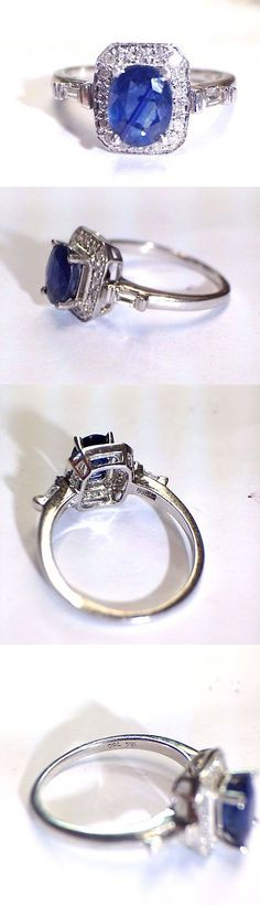 Gemstone 164315: 18K White Gold Natural 1.5Ct Sapphire And Diamond Ring Size 7.25 -> BUY IT NOW ONLY: $264.99 on eBay!