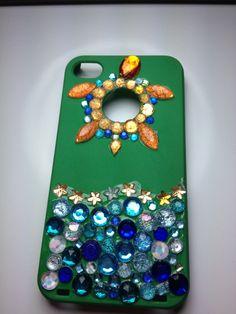iPhone 4/4s Rhinestone Turtle Case by CraftCreateBe on Etsy, $8.00