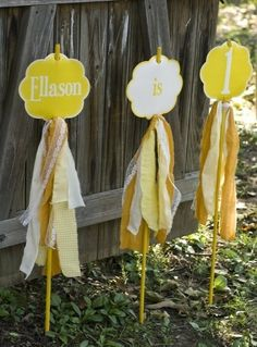 Yellow Sunshine Party PRINTABLE Birthday Yard Signs by lovetheday, $15.00 by angela