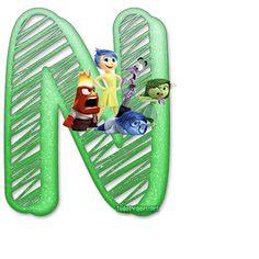Letras  de IntensaMente Abc For Kids, Tricks, Party Time, Skateboard, Marti, Template, Decorations, Alphabet, Movie