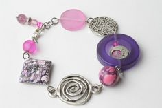 Pink and purple bracelet