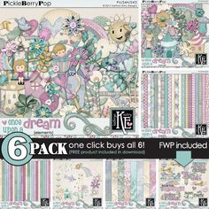Once Upon a Dream {6-pack Plus FWP} by Kathryn Estry :: Coordinates with the entire Once Upon A Dream Digital Scrapbooking Collection by Kathryn Estry @ PickleberryPop (A Feb 2017 Pickle Barrel Collection)