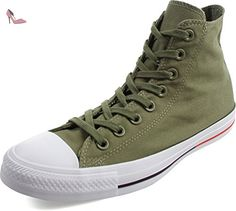 Converse - Adulte Chuck Taylor All Star Chaussures, EUR: 42.5, Fatigue Green/White/Signal Red - Chaussures converse (*Partner-Link)