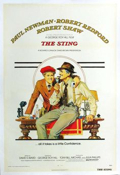 """MP756. """"The Sting"""" Movie Poster by Bill Gold (George Roy Hill 1973) / #Movieposter"""