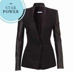 NEED IT NOW... The Leather-Detailed Blazer. Shop the Matrix Jacket $260 now in all boutiques or by calling 03 9804 7906 (Aus) 09 448 5963 (NZ) to place a phone order. What do you think? Xx