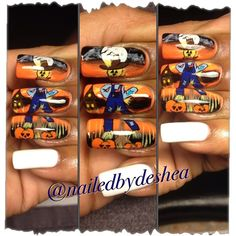 Scarecrow by Mamashea5 from Nail Art Gallery