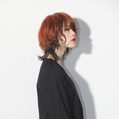 Wolf × section color Color recipe ◎ Bleach times Under 7 level gray Foil work of under gray to orange of top 6 levels. Haha of exclusive model . Cut My Hair, Hair Cuts, Hair Inspo, Hair Inspiration, Cabelo Inspo, Inspo Cheveux, Curly Hair Styles, Natural Hair Styles, Mullet Hairstyle