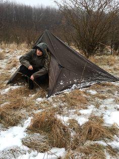 DD tarp 3x3 tent configuration. #bushcrafttent