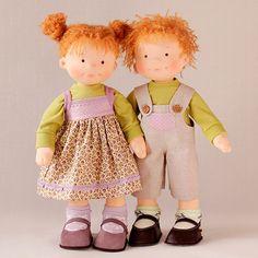 Подробный пошаговый видеокурс по игровым текстильным куклам «Фенечка и Сенечка»