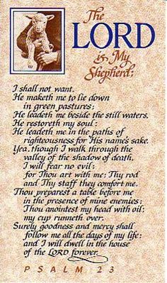 Psalm 23 The Lord Is My Shepherd