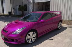 Valerie's 2002 Toyota Celica GT - Color change to HOK HOT Pink Pearl | Motorcycle custom painting - flames - graphics - trucks / cars - Attitude Custom Painting