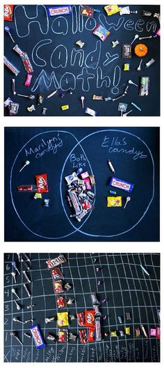 Use your kids' trick-or-treating candy to practice gathering and graphing data in math.