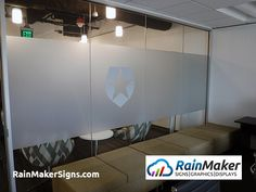Frosted window vinyl with layered vinyl logo. Frosted Window, Frosted Glass, Window Graphics, Retail Space, United States, Ads, Windows, Signs, Logo