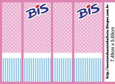 Kit para impressão Rosa e Azul poá e listras
