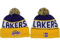 6a9a72b1b3a 2017 Winter NBA Fashion Beanie Sports Fans Knit hat Lakers Cap