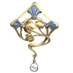 ART NOUVEAU Superb Brooch - Pendant