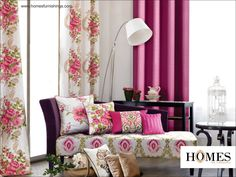 Beautify your #Interiors with intricately #Embroidered #Furnishings. Explore our #Collections @ www.homesfurnishings.com #HomesFurnishings #Cushions #Upholstery #Curtains #HomeDecor #HomeFabrics